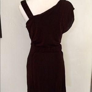 Nanette Lepore brown metallic shimmer dress M